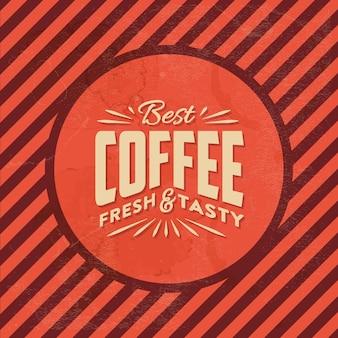 Fondo del café de la vendimia