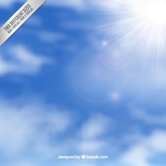 Fondo del cielo con la luz del sol