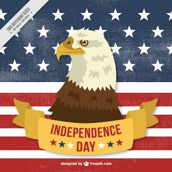 Fondo del día de independencia con águila y bandera de estados unidos