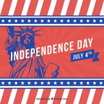 Fondo del día de independencia con rayas