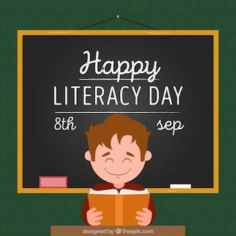 Fondo del día de la alfabetización de niño en la escuela