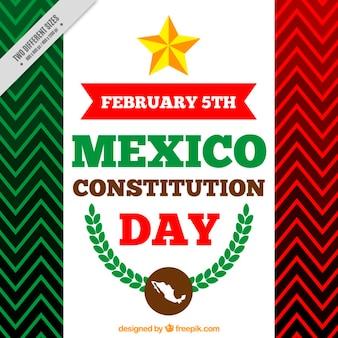 Fondo del día de la constitución de méxico