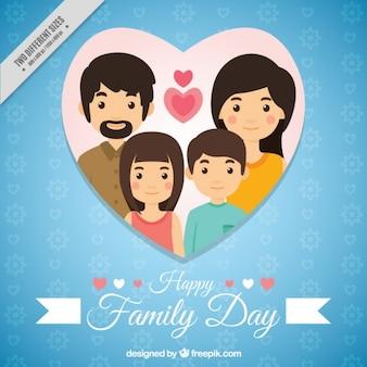 Fondo del día de la familia en azul