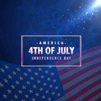 Fondo del día de la independencia americana azul