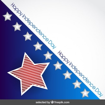 Fondo del día de la Independencia con estrellas 3d