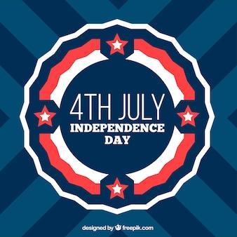 Fondo del día de la independencia con estrellas blancas y rojas