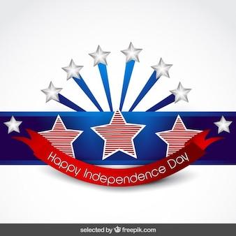 Fondo del día de la independencia con la cinta