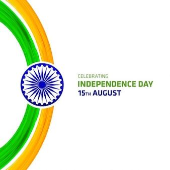 Fondo del día de la independencia de la india con pinceladas de acuarela