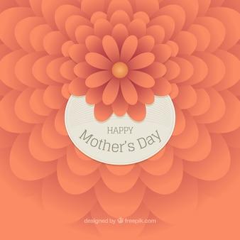 Fondo del día de la madre con flor naranja en estilo abstracto