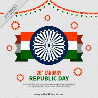 Fondo del día de la república india con bandera