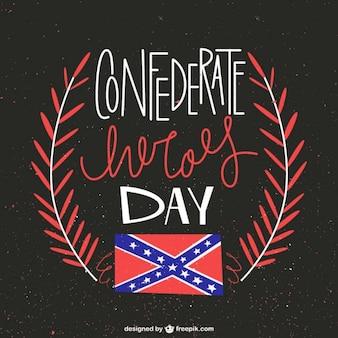 Fondo del día de los héroes confederados
