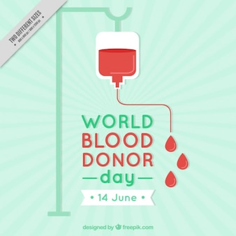 Fondo del día del donante de sangre en diseño plano