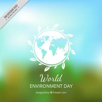 Fondo del día del medio ambiente borroso