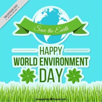 Fondo del día del medio ambiente con cesped