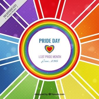 Fondo del día del orgullo abstracto colorido