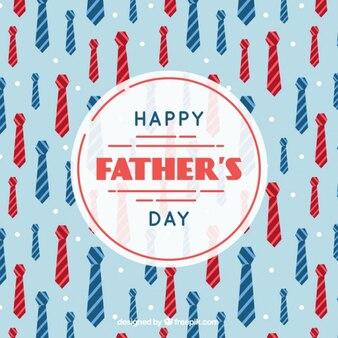 Fondo del día del padre con corbatas