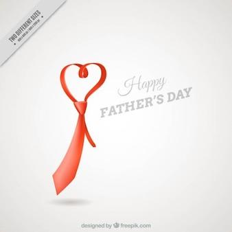 Fondo del día del padre de corbata en forma de corazón