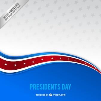 Fondo del día del presidente de onda azul