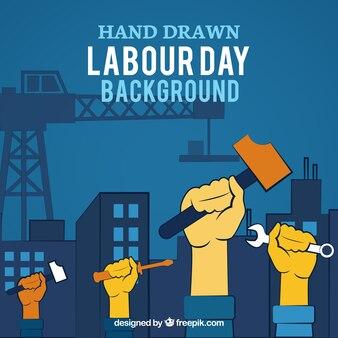 día negro trabajo de mano