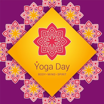 Fondo del día del yoga