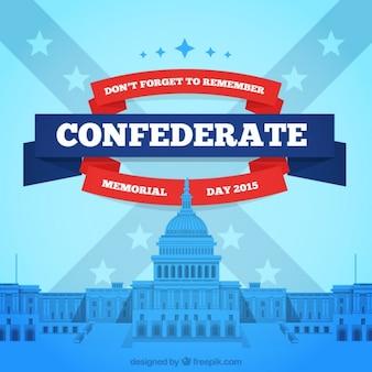 Fondo del día en memoria de los confederados