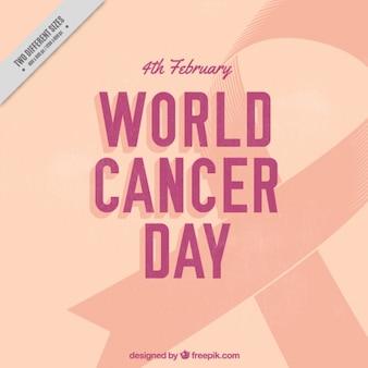 Fondo del día mundial contra el cáncer con