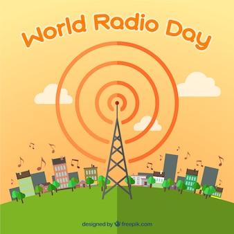 Fondo del día mundial de la radio