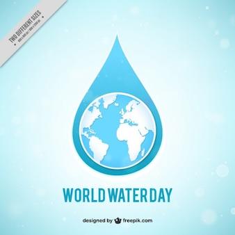 Fondo del Día Mundial del Agua en estilo bokeh