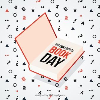 Fondo del día mundial del libro con números y símbolos