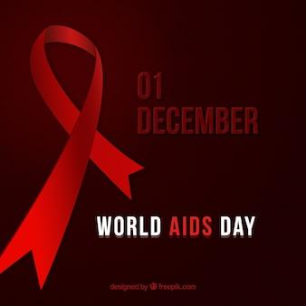 Fondo del día mundial del SIDA en diciembre