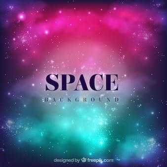 Fondo del espacio colorido