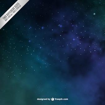 Fondo del espacio en colores verde y azul
