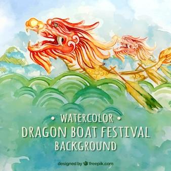 Fondo del festival de los botes de dragón