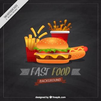Fondo del menú de Burger