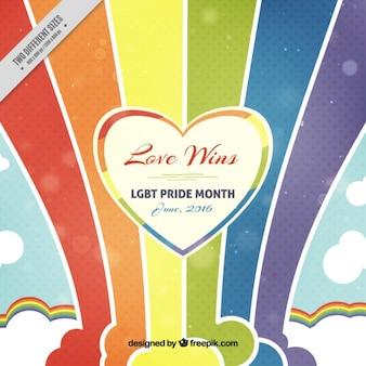 Fondo del orgullo con arcoiris
