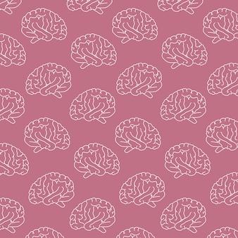 Fondo del patrón del cerebro humano