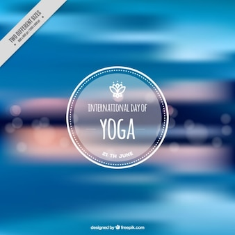 Fondo desenfocado abstracto de yoga azul