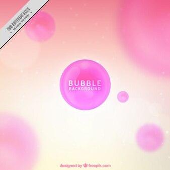 Fondo desenfocado con burbujas rosas