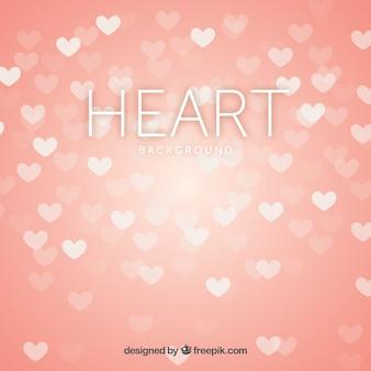 Fondo desenfocado de corazones