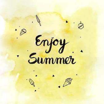 Fondo disfruta del verano