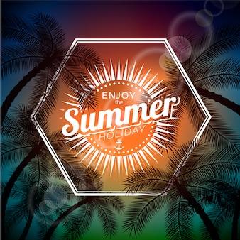 Fondo disfruta el verano con diseño de hexágono