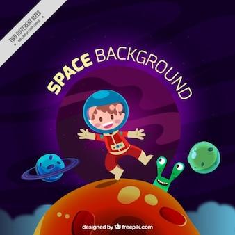 Fondo divertido del astronauta