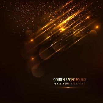 Fondo dorado brillante con detalles de luces