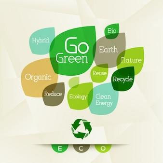 Fondo ecologico con diferentes palabras