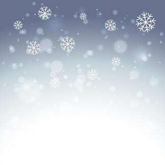 Fondo elegante de copos de nieve