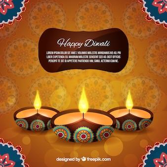 Fondo elegante de diwali