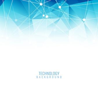 Fondo elegante de tecnología azul