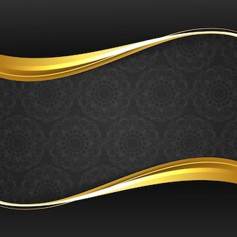 Fondo elegante moderno de onda dorada