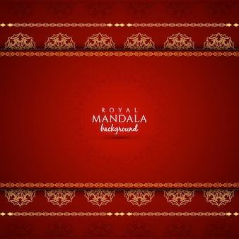 Fondo elegante rojo con diseño de mandala