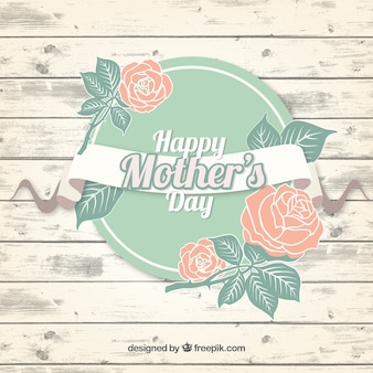 Fondo en colores pastel del Día de la Madre